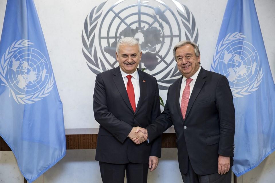Başbakan Binali Yıldırım, Birleşmiş Milletler Genel Sekreteri Antonio Guterres ile görüştü.