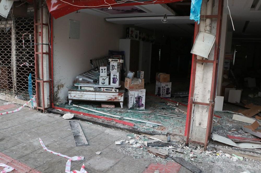 İskenderun'da patlamanın yaşandığı caddede teröre 'Türk bayraklı' tepki - 5