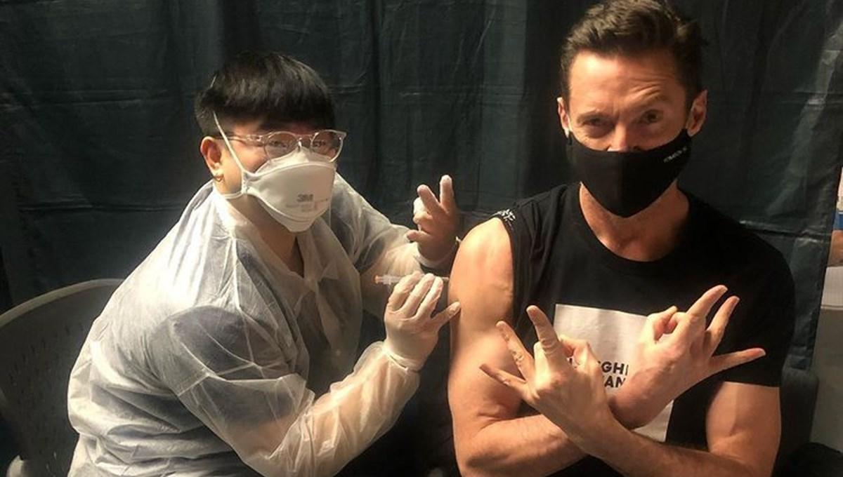 Hugh Jackman corona virüs aşısı oldu