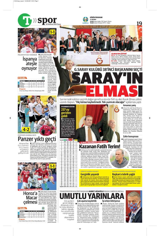 Günün spor manşetleri (20 Haziran 2021) - 23