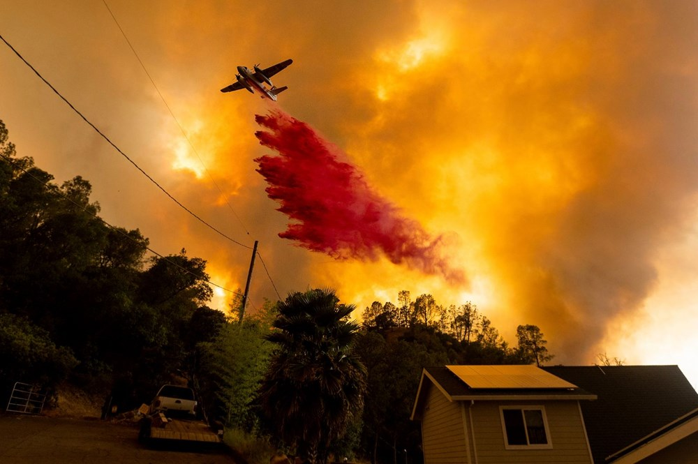 California'da yangınlar kontrol altına alınamadı: Bir helikopter düştü - 16