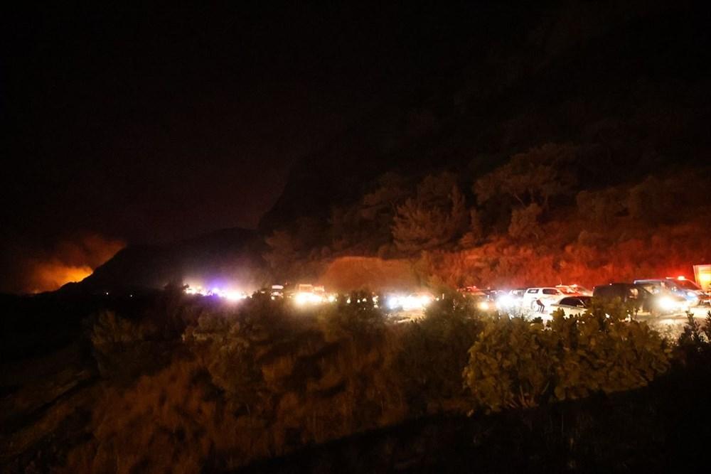 Milas'ta yangın bölgesindeki vatandaşlar tahliye ediliyor - 5