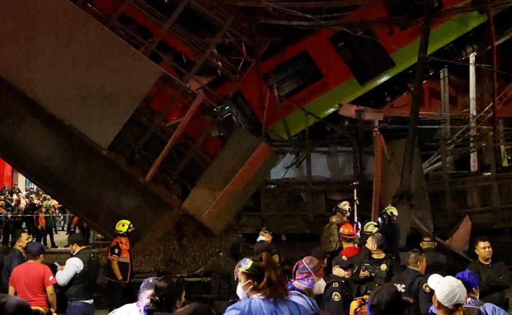 Meksika'da tren raylarını taşıyan üst geçit çöktü: 15 kişi öldü, 70 kişi yaralandı - 4