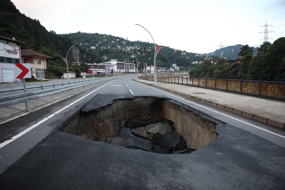 Rize'de sel ve heyelan afetinin hasarı gün ağarınca ortaya çıktı - 2