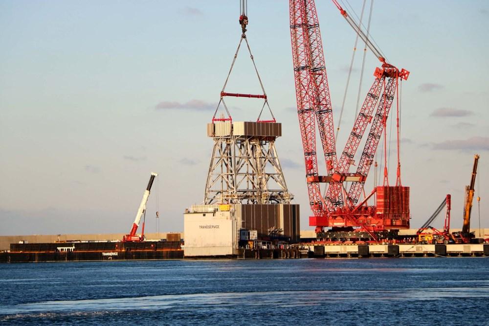 Kanuni sondaj gemisinin kule montaj çalışmaları başladı - 8