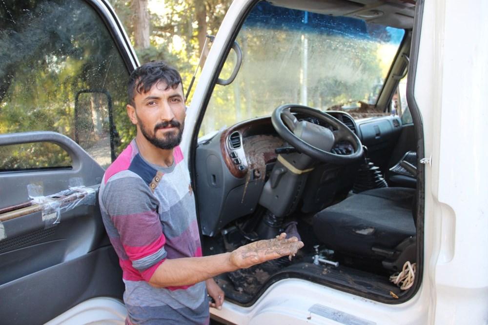 Patlayan asfalta kamyonet düştü: Canımızı son anda kurtardık - 8