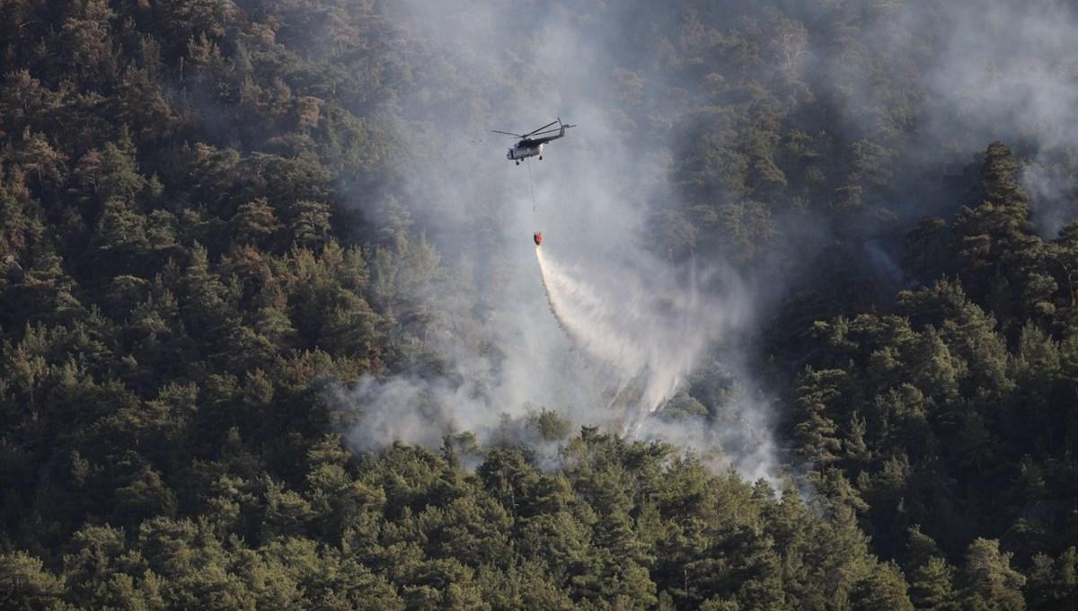 Orman yangınları 2 ilde 6 noktada sürüyor