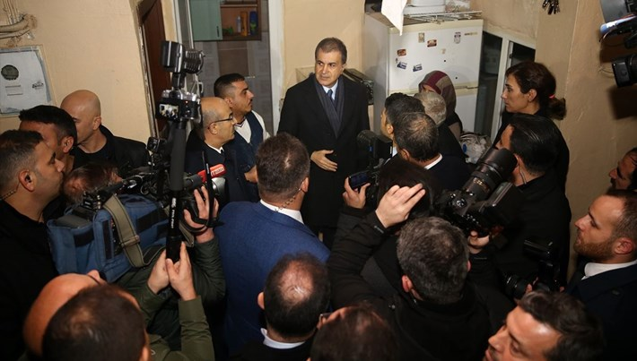 AK Parti Sözcüsü Ömer Çelik sel bölgesini inceledi