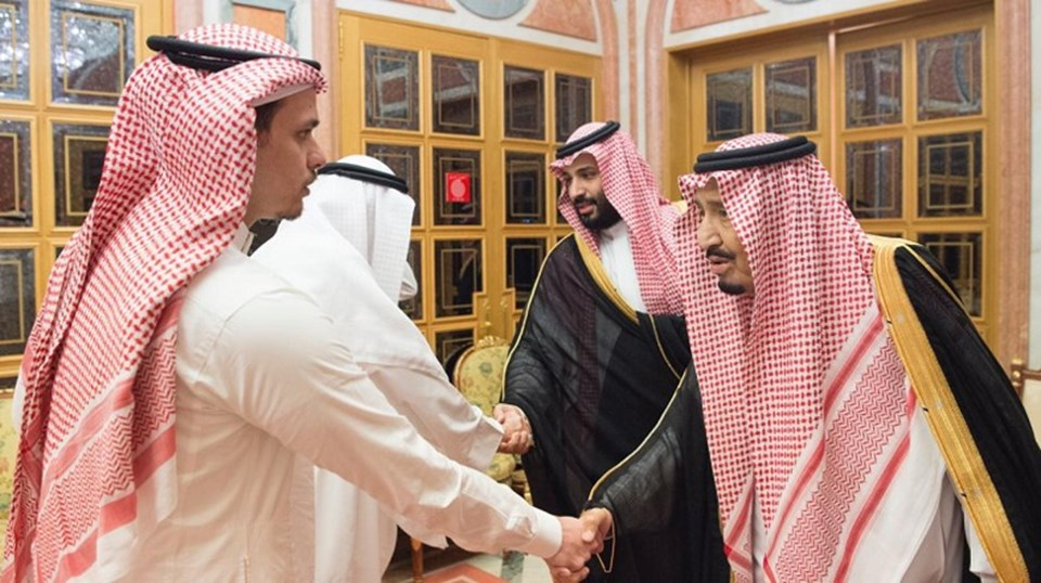 Kral Selman ve Veliaht Pren Muhammed, Cemal Kaşıkçı'nın oğullarına baş sağlığı diledi.