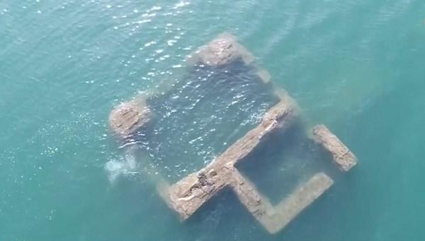 4 bin yıllık batık şehir su altından görüntülendi