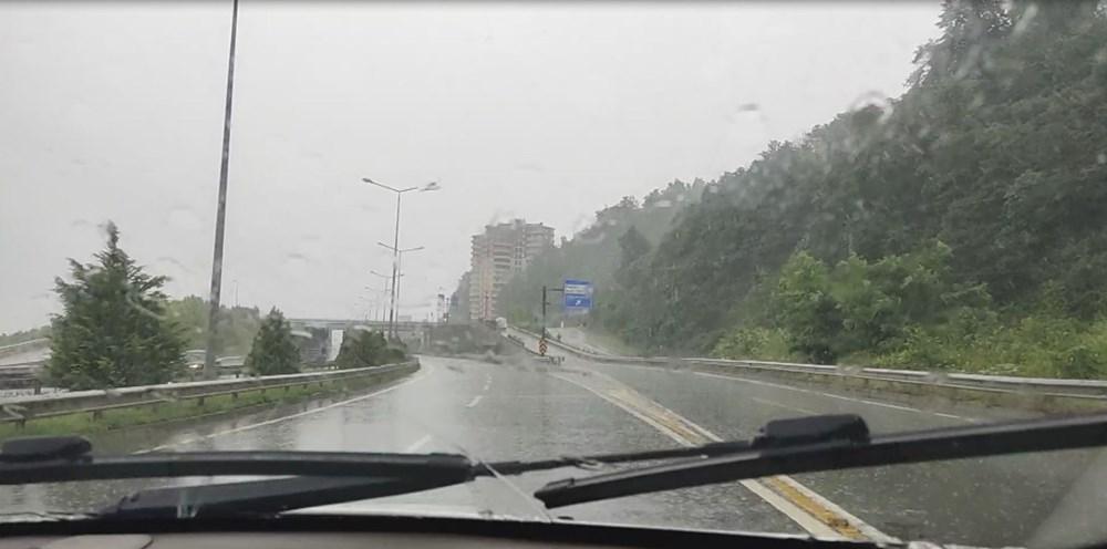 Rize ve Artvin'de beklenen yağış başladı: Arhavi'de iki mahalleyi su bastı - 7