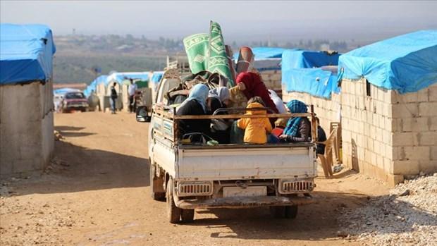 124 bin sivil, Suriye-Türkiye sınırındaki kamplara göç etti