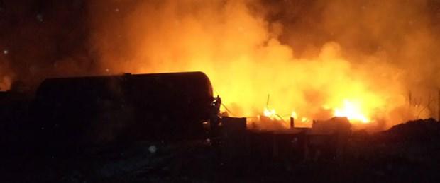 3 bin kişiyi tahliye ettiren yangın