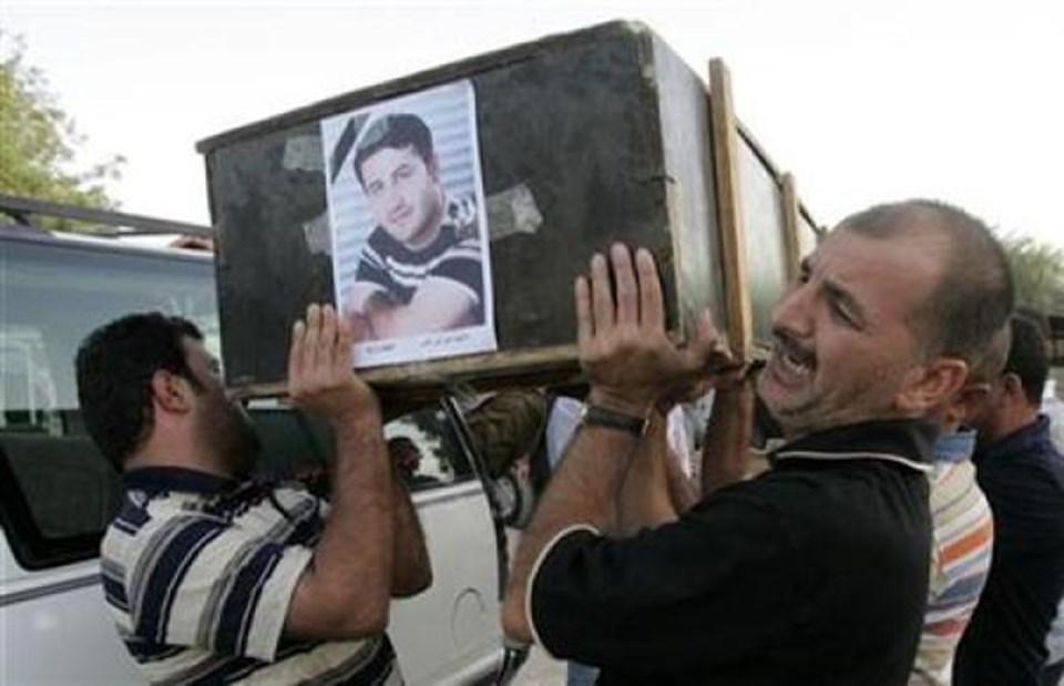Said Çmağ'ın cenazesinden görüntüler.
