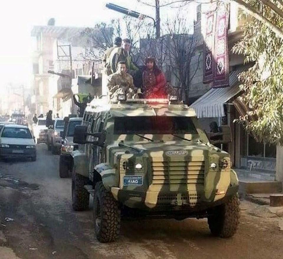 Trump yönetiminin PYD'ye bu zırhlı araçlardan verdiği iddia ediliyor.