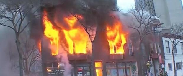ABD'de yangın: 14 yaralı
