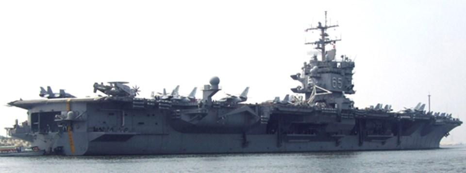 ABD'nin Akdeniz'deki gücü olan 6'ıncı filonunbelkemiğiUSS Enterprise uçak gemisi