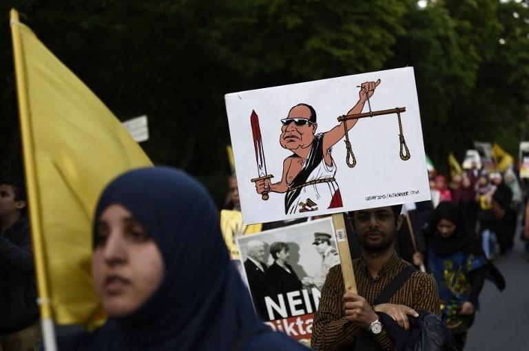 Sisi'nin protestosu başta Alman basını olmak üzere bir çok ülkede haber oldu.