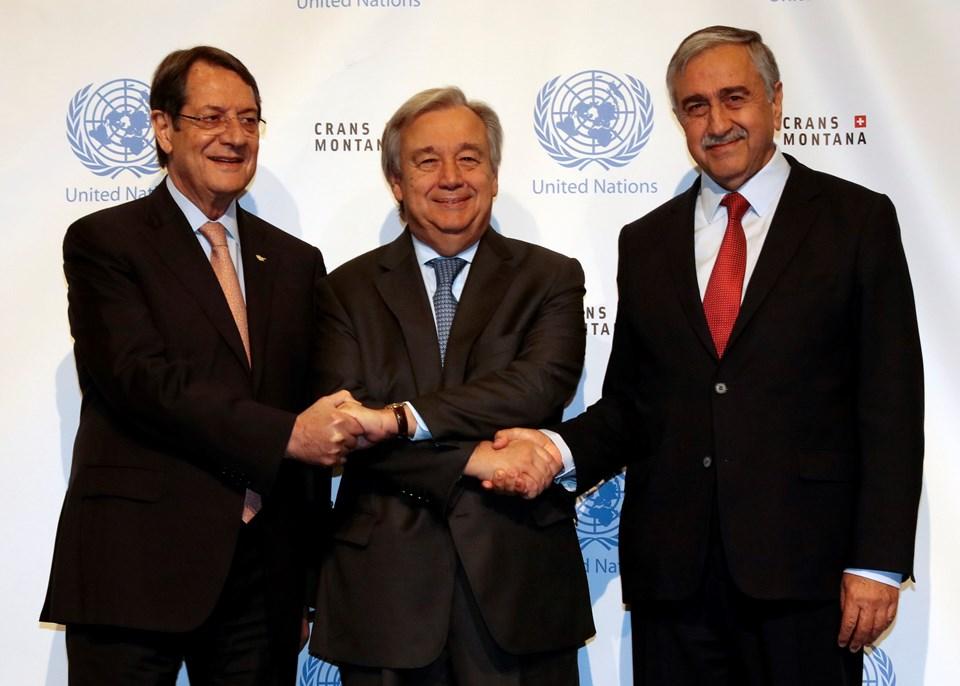 BM Genel Sekreteri Antonio Guterres'in çabaları Kıbrıs'ta çözüm için Rum lider Nikos Anastasiadis'i ikna etmeye yetmedi.