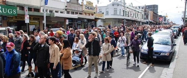 Avustralya'da kadına şiddet yürüyüşü