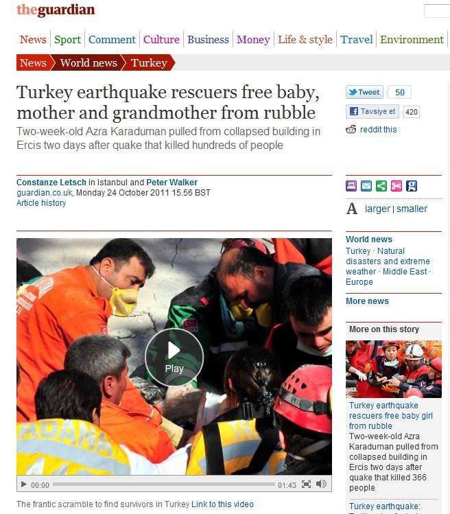 Azra bebek dünya basınında