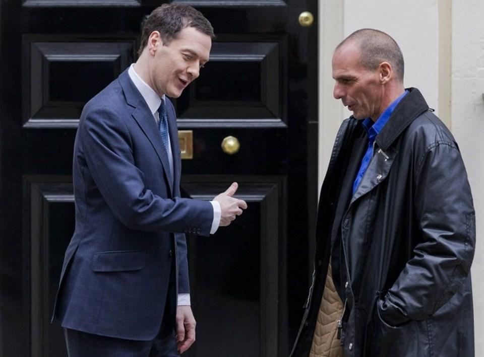 İngiltere Maliye Bakanı Osborne, deri paltoyla gelen misafini takım elbiseyle karşıladı ve diplomatik nezaketinden tavis vermedi.
