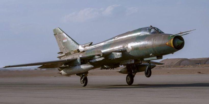 Suriye ordusuna ait bir Su-22 jet.