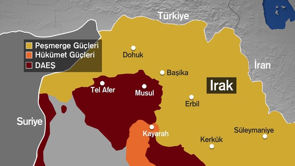 Terör örgütü DAEŞ 2014 yılında Irak'ın Musul kentini kontrol ediyor.