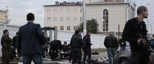 Çeçenistan'da polise saldırı