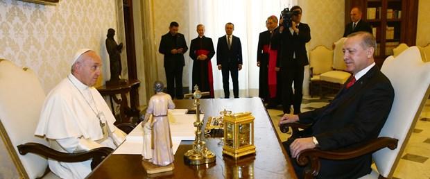 erdoğan papa vatikan ilk kare