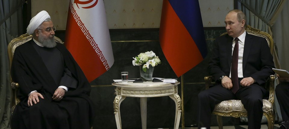 İran Cumhurbaşkanı Hasan Ruhani ve Rusya Devlet Başkanı Vladimir Putin.