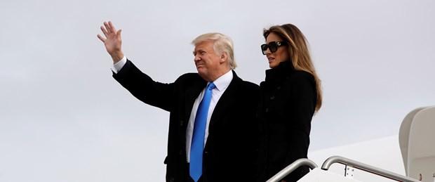 Donald Trump yemin töreni için Washington'a geldi