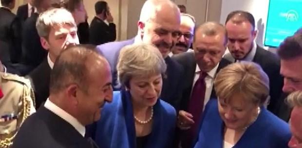 Liderler İngiltere-Hırvatistan maçını takip etti