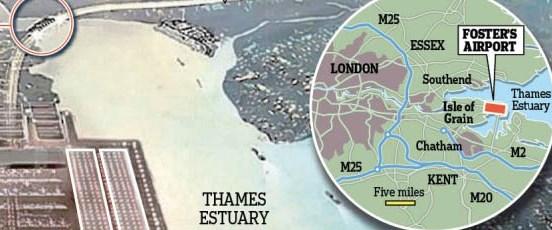 Dünyanın en büyük havaalanı Thames'e