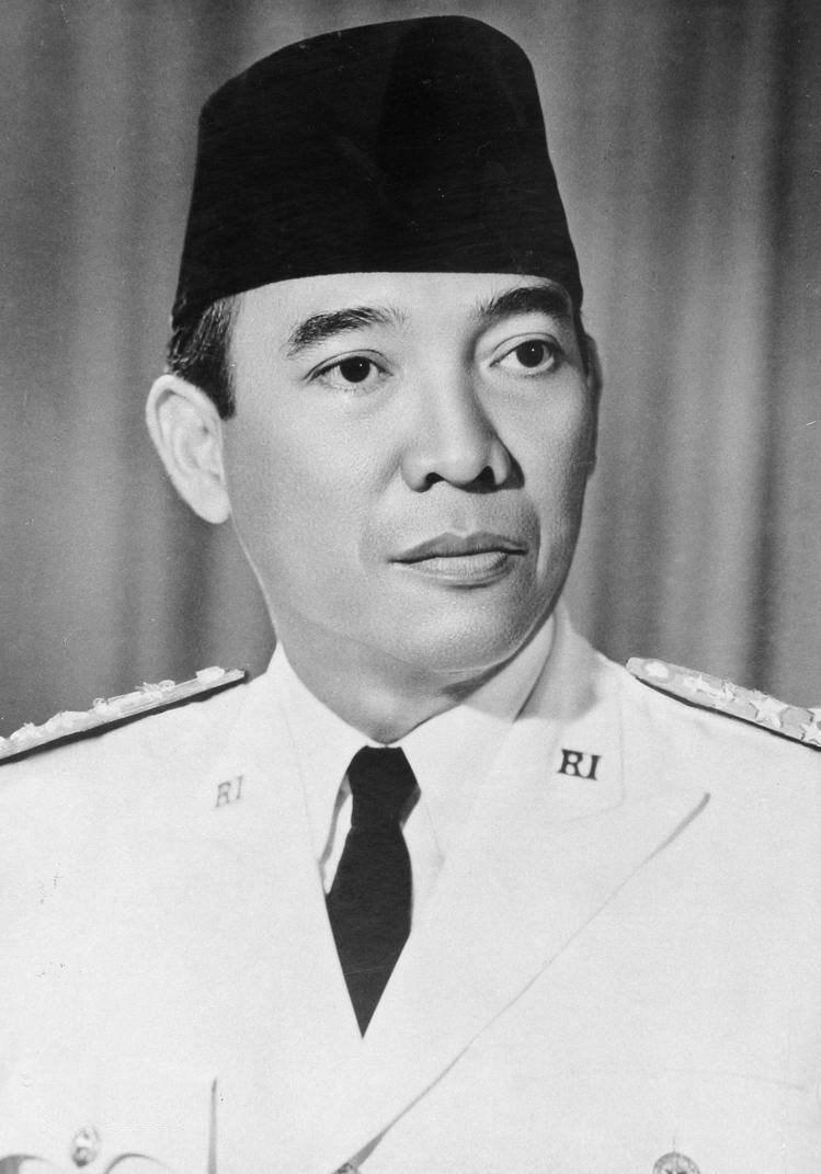 Endonezya'nın ilk devlet başkanı ve bağımsızlık hareketi lideri Ahmed Sukarno.