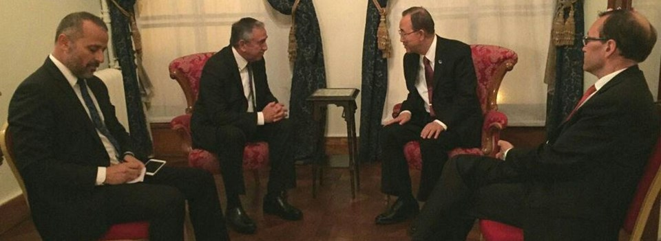 Özel uçakla İstanbul'a gelen Akıncı, BM Genel Sekreteri Ban Ki-moon ile, müzakerelerde gelinen son aşamayı ve gelecek 7 ayki süreçte yapılması gerekenleri değerlendirdi.
