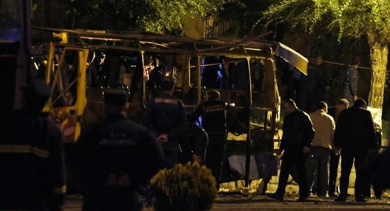 Ermenistan'ın başkenti Erivan'da bir halk otobüsünde patlama meydana geldi.