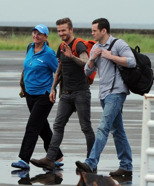 Filipinler'de David Beckham sevinci