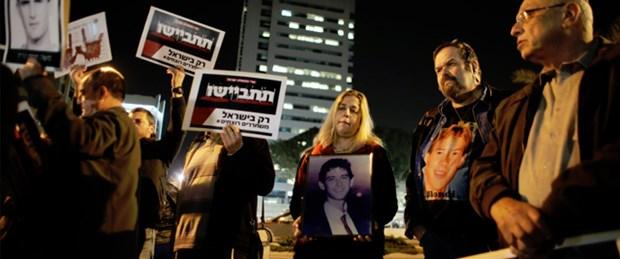 Filistinli tutukluların özgürlüğüne protesto