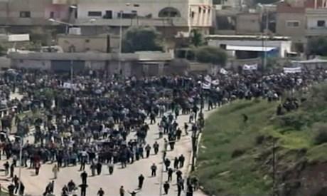 Dera'da büyük protestolar