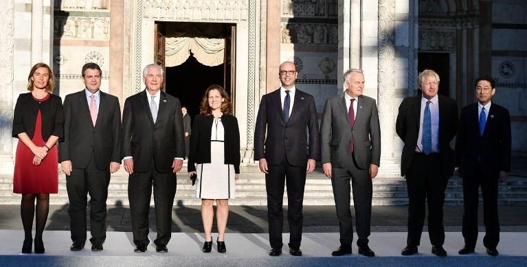 G7 ülkeleri dışişleri bakanları İtalya'nın Lucca kentinde bir araya geliyor.