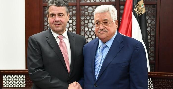 Almanya Dışişleri Bakanı Sigmar Gabriel, Filistin Devlet Başkanı Mahmud Abbas'la da görüştü.