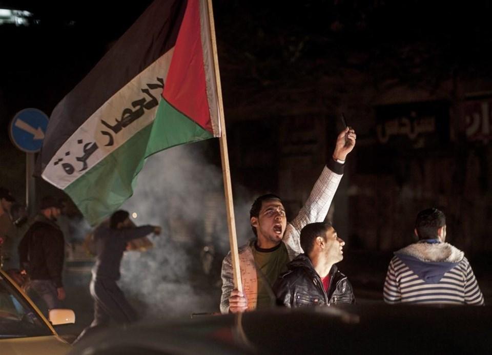 Gazze'de 'ateşkes' coşkusu