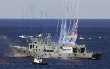 Gemiyi roketlerle batırdılar