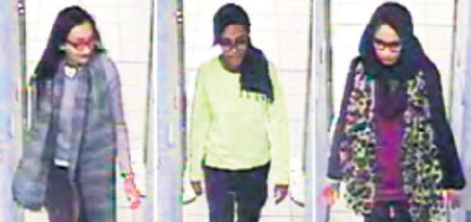 18 yaşın altındaki üç kızın İngiltere'den kaçış öyküsü tabloid basında gündemin 1 numarası...