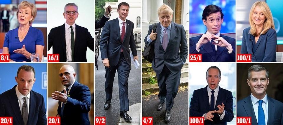 İngiliz basınında adayların şansları değerlendirildi. En güçlü aday Boris Johnsongösterildi.