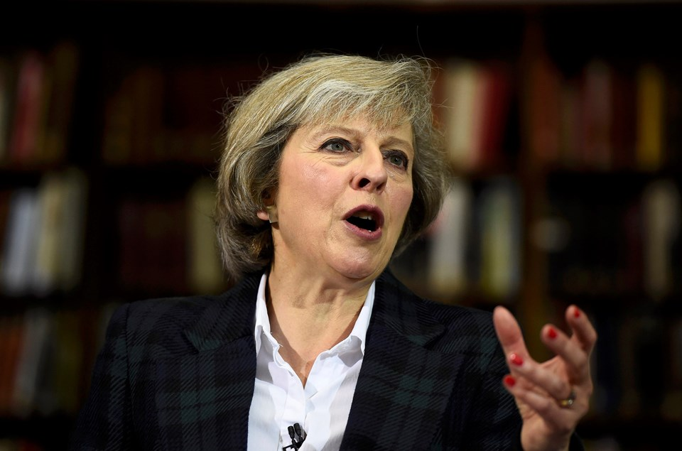 İçişleri Bakanı Theresa May.