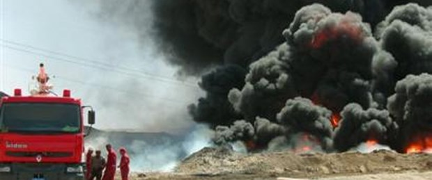Irak sınırında yangın: 2'si Türk 3 yaralı