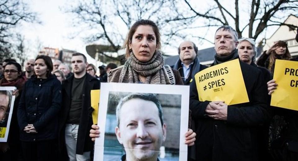 Celali'nin serbest bırakılması için Brüksel'de eylem düzenlenmişti /17 Şubat 2017