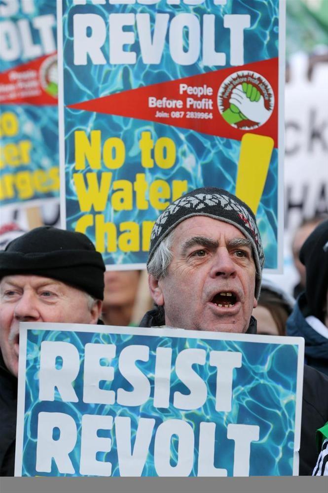 İrlanda'da protestosu